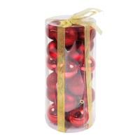 Globuri Craciun, rosii, diametru 6 cm, set 24 bucati, SD16-3A