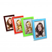 Rama foto D141, plastic, 10 x 15 cm, diverse culori