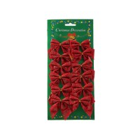 Fundite decorative Craciun, rosii, set 12 bucati, SY16HDJ-01