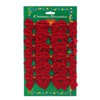 Fundite decorative Craciun, rosii, set 18 bucati, SY16HDJ-02