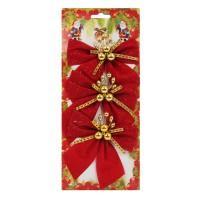 Fundite decorative Craciun, rosu+auriu, set 3 bucati, SY16HDJ-14