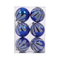 Globuri Craciun, albastre, D 8 cm, set 6 bucati, SY16CBA-298