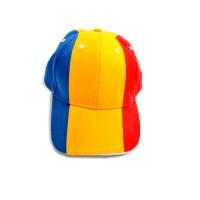Sapca tricolora Arhi Design, albastru + galben + rosu, bumbac