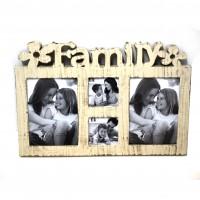 Rama foto Family, DZY96, colaj 4 fotografii, plastic + sticla, 47 x 40 x 3 cm