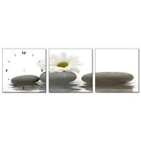Tablou canvas cu ceas, 3 piese, TA13-PAC118, stil abstract, 30 x 30 cm