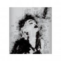 Tablou canvas PT1323, pe panza, cu rama, portret, 40 x 40 cm