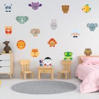 Sticker decorativ perete, camera copii, Animalute, PT0005, 60 x 90 cm