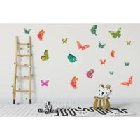 Sticker decorativ perete, camera copii, Fluturi vrajiti, PT1261, 60 x 90 cm