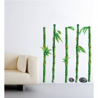 Sticker decorativ perete, camera copii/living/hol, PT1448, Bambus, 30 x 90 cm