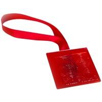 Magneti decorativi perdea si draperie, Square, forma patrata, cu panglica de fixare, 5 x 5 x 0.01 cm, rosu