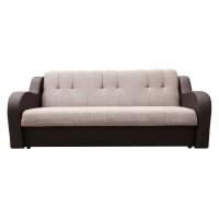 Canapea extensibila 3 locuri Delia, cu lada, maro + bej, 222 x 96 x 90 cm, 2C