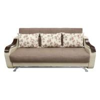 Canapea extensibila 3 locuri Florina, cu lada, crem + maro, 225 x 105 x 99 cm, 2C