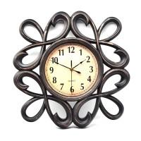 Ceas de perete D257, din plastic / sticla, 47 x 45 x 5 cm