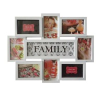 Rama foto, colaj, LB-151, Family, alba, plastic + sticla + carton, 45 x 56 cm