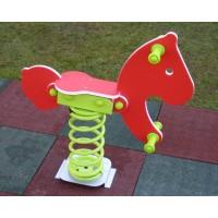 Balansoar copii, calut cu arc CA.01.01, structura metalica, exterior, 70 x 20 x 80 cm
