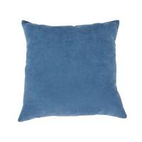 Perna decor Hazan 105, albastru, poliester + fibra poliester siliconizata, 43 x 43 cm