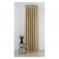 Draperie Mendola Fabrics, model Madras, Scandi, natur, bej, opac, H 280 cm