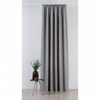 Draperie Mendola Fabrics, model Madras, Scandi, natur, gri, opac, H 280cm