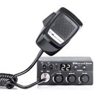 Statie radio auto CB Midland M Zero Plus, cod C1169.01, 4 W, 12 V, RF Gain, SQ - squelch manual, buton canale urgenta 9 / 19
