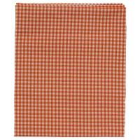 Fata de masa Ibiza, poliester + bumbac, portocaliu + alb, 160 x 120 cm