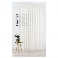 Perdea Mendola Fabrics, model Vicenza, Basic, batist, crem, H 280 cm