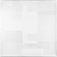 Tavan fals decorativ din polistiren C2049 modern alb 50 x 50 x 0.5 cm