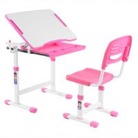 Birou si scaun pentru copii C3, ajustabile, roz, 66 x 76 x 47 cm, 1C