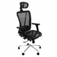 Scaun birou directorial LA-874MH-1, mesh, negru