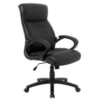 Scaun birou ergonomic HLC-0311-1, rotativ, PU + PVC, negru