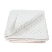 Prosop tip covoras pentru baie, Caressa Hot, bumbac, alb, 50 x 90 cm