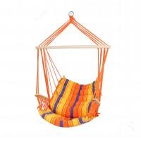 Hamac tip scaun, cu bara din lemn, 68511C, 90 x 65 cm