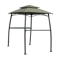 Pavilion pentru gradina / gratar Burano BBQ dreptunghiular cadru metalic + polietilena 2.15 x 1.64 x 2.38 m