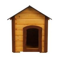Cusca pentru caini talie mica, CC.03, din lemn, 75 x 57 x 74 cm