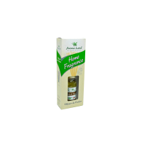 Difuzor de parfum Aroma Land Home Fragrance Amber and Santal, aroma ambra si santal, sticluta ulei parfumat 125 ml + betisoare lemn