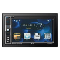 Radio media player auto Akai CA-2DIN2217, 4 x 25 W, 2 DIN, Bluetooth, USB, SD / MMC, Aux in, display 6.2 inci, control touch, telecomanda