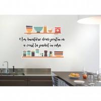 Sticker decorativ perete, bucatarie, PT2327, 50 x 70 cm