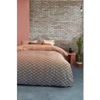 Lenjerie de pat, 2 persoane, Vinz nude, bumbac 100%, 4 piese, portocaliu + gri