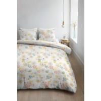 Lenjerie de pat, 2 persoane, Junia yellow, bumbac 100%, 4 piese, multicolor