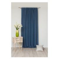 Draperie Mendola Fabrics, model Madras, Scandi, natur, albastru, opac, H 280 cm