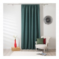 Draperie Mendola Fabrics, model Madras, Scandi, natur, verde, opac, H 280 cm