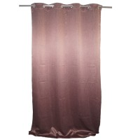 Draperie Blackout, 100% poliester, maro roscat, l 135 cm, H 245 cm