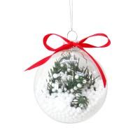 Glob decorativ de Craciun AK018116, sticla, 8 cm
