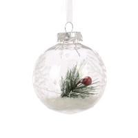 Glob decorativ de Craciun AK411808, plastic, 8 cm