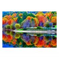 Tablou dualview DTB7245, Culorile padurii, canvas + lemn de brad, 60 x 90 cm
