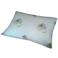 Perna pentru dormit Bamboo microfibra + poliester si silicon alb + verde 70 x 70 cm