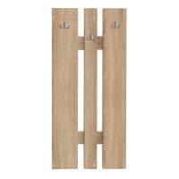 Cuier hol Elda mic, pentru perete, cu 6 agatatori, stejar bardolino, 450 x 32 x 920 mm, 2C