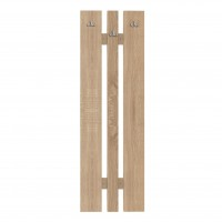 Cuier hol Elda mare, pentru perete, cu 6 agatatori, stejar bardolino, 450 x 32 x 1350 mm, 2C