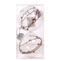 Globuri Craciun, transparent, D 10 cm, set 2 bucati, SY18CD-010