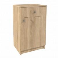 Comoda hol Elda, cu usa + sertar, stejar bardolino, 45 x 37 x 75 cm, 2C