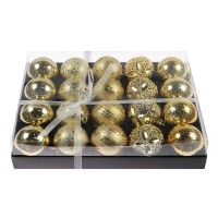 Globuri Craciun, aurii, diametru 6 cm, set 20 bucati, SY18CD-026